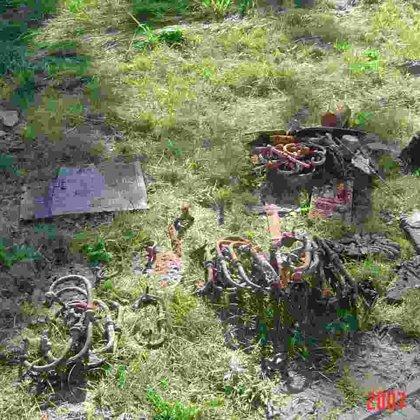 Grobowiec w Łagowie podczas prac antropologa